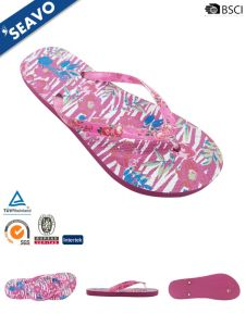 2ceabf725 China Seavo Ss18 Most Comfortable Custom Made Pink Printed Ladies Flip Flops  - China PE Flip Flops
