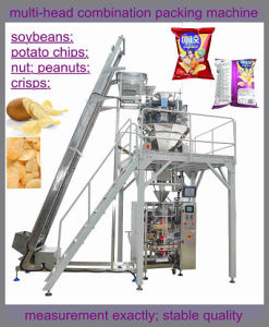 Snacks Packing Machine (air input; pillow-shape bag; weighter to measure;) pictures & photos