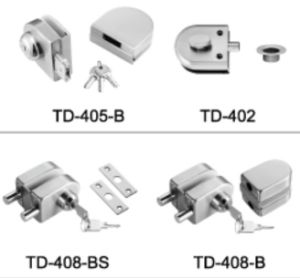 High Quality Stainless Steel Glass Door Lock/ Td-408-B pictures & photos