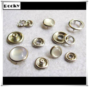 Plating Pearl Snap Button Fastener for Baby Clothes