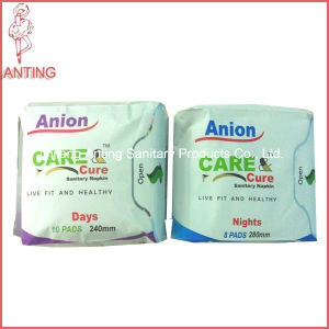Ultra Thin Super Absorbent Disposable Cotton Anion Sanitary Napkin pictures & photos