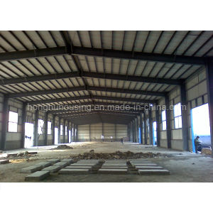 Heat Insulation Low Cost Slope Roof Prefab Warehouse pictures & photos