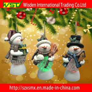 Christmas Snowman Led Light Ornaments Polymer Clay Gifts