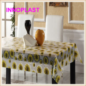 PVC Printed Transparent Tablecloth Wholesale (TT0212) pictures & photos