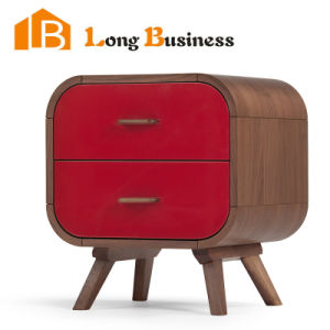 Charming Small Cubic Solid Oak Wooden Red Home Storage Units (LB AL5026)