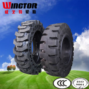 Anti-Tearing Solid Loader Tyre 17.5-25 pictures & photos