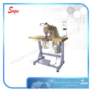 Double Needle Industrial Leather Shoe Upper Sewing Machine pictures & photos