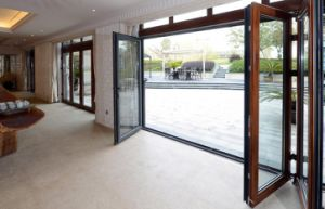 Aluminium Folding Door with Double Glazing pictures & photos