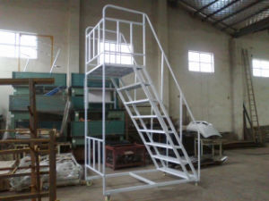 Heavy Duty Foldable/Telescopic/Nsulation Steel Warehouse Rolling Ladder/ Stairs For Sale China