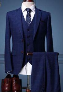 Three Piece Suit Men Groom Wedding Dress