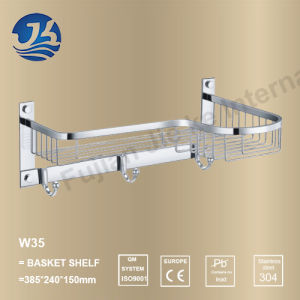 High Quality Stainless Steel Bathroom Hardware Net/ Storage Rack Shelf (W35)