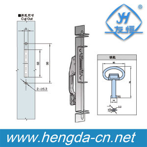 Yh9698 Zinc Alloy Cabinet Panel Lock, Electrical Locks of Handle Lock pictures & photos