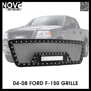 04 08 F 150 Stainless Steel Wire Mesh Cutout Black Grille For Led Light Bar