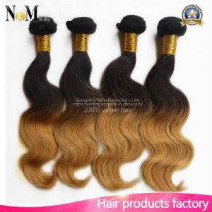 Wholesale Silky Straight Hair Extension Wavy Virgin Malaysian Ombre Hair Weave pictures & photos