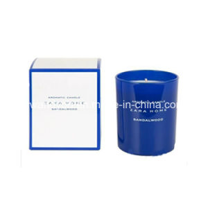Scented Soy Gift Candle in Blue Glass for Birthday
