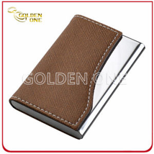 Wholesale Fine Quality Metal PU Leather Business Name Card Holder pictures & photos