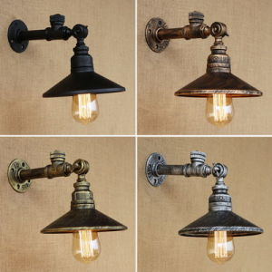 China 4 color industrial loft iron rust water pipe retro wall lamp 4 color industrial loft iron rust water pipe retro wall lamp vintage e27 sconce lights with aloadofball Choice Image