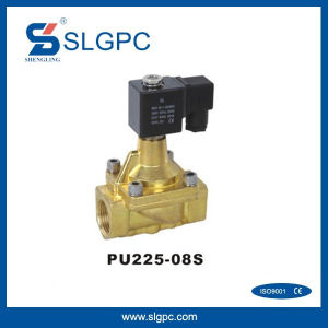 Guide Type Electromagnetic Valve Normal Close Solenoid Steam Valve Brass Material PU225-08s-1""