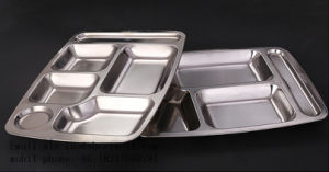 Custom ODM OEM Stainless Steel Lunch Food Tray