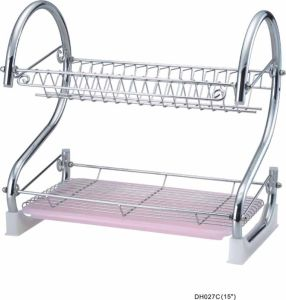 S-Shaped Dish Rack Set 2-Tier Chrome Stainless Plate Dish Cutlery Cup Rack with Tray Steel Drain Bowl Rack Kitchen Dish Shelf  sc 1 st  Jiangmen City Si Ping Metal Products Factory & China S-Shaped Dish Rack Set 2-Tier Chrome Stainless Plate Dish ...