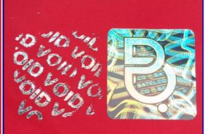 Hot Stamping Foil Pass Security Holographic 3D Custom Hologram Sticker