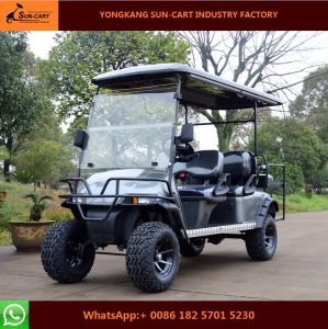 New Model 6 Passenger Electric Hunting Golf Cart (Folding windshield)