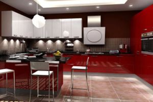 China Red Mdf High Gloss Lacquer Door