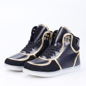 2016 of The Latest High Quality Fashion Adult Casual High Top LED Light Shoes