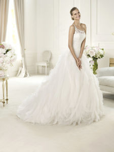 Chiffon Cap Sleeve Bridal Gown Wedding Dress pictures & photos