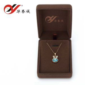 Brown Velvet Jewelry Box for Jewelry Set Display pictures & photos