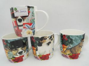 Shiny Surface with Unique Animal Pattern Design Ceramic Mug pictures & photos