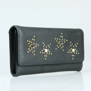 Women Fashion Clutch Purse Genuine PU Leather Wallet pictures & photos