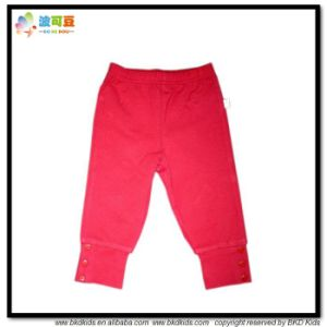 Plain Color Baby Apparel Organic Toddler Girl Pants pictures & photos