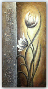 Hand Brush Stroke Canvas Oil Painting - Modern Abstract Floral Classical