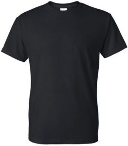 Wholesale Plain Black Cotton T-Shirts, T-Shirt for Men pictures & photos
