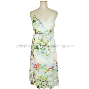 Ladies Polyester Dress (yc01)