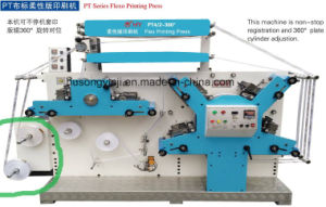 Non-Stop Register Fabric Label Flexo Printing Machine (two winders) pictures & photos