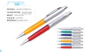 Plastic Ball Point Pens (568) 1.0mm Point