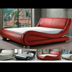 Modern Leather Bed (B205)