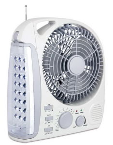 8inch Rechargeable Table Fan with LED Light, Radio 283L