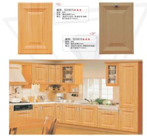 MDF Thermofoil Kitchen Cabinets with Granite Counter Top