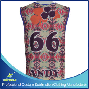 Custom Sublimation Men′s 2 Ply Reversible Lacrosse Jersey pictures & photos