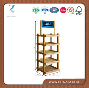 5 Shelf Wood Rack for Purchase Display pictures & photos