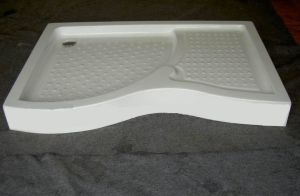 Acrylic Shower Tray, Acrylic Shower Plate with Fiberglass Bottom pictures & photos