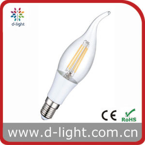 Cal35 4W E14 Plastic Candle Tailed LED Filament Bulb Lamp