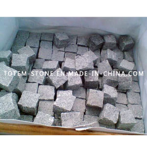 Cheap Driveway Natural Granite Cobble / Cube Paving Stone for Landscape