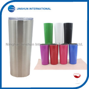 Newest 20oz Double Wall Insulated Stainless Steel Straight Outer Shape Tumbler