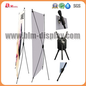 Black Fiberglass X Banner Display Stand