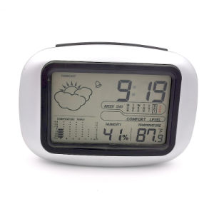 Alarm Clock Weather Station Temperature Humidity Electronic Digital Watch