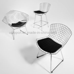 Sled Base Knoll Wire Bertoia Side Steel Chair With Cushion (SP MC021)